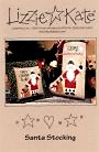 Santa Stocking-- counted cross stitch from Lizzie Kate
