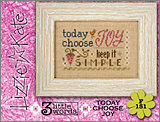 F151 Today Choose Joy 3 Little Words Flip-it