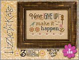 F152 Never Give Up 3 Little Words Flip-it