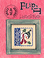 F34  January Stamps Flip-It -- counted cross stitch from Lizzie Kate