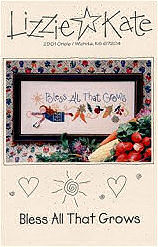 Bless All That Grows -- counted cross stitch from Lizzie Kate