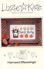Harvest Blessings -- counted cross stitch from Lizzie Kate