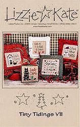 Tiny Tidings VII -- counted cross stitch from Lizzie Kate