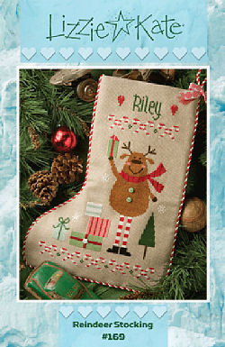 #169 Reindeer Stocking from Lizzie Kate