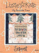My Favorite Time -- counted cross stitch from Lizzie Kate