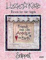 Friends Are Like Angels -- counted cross stitch from Lizzie Kate