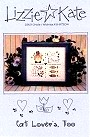 Cat Lovers Too -- counted cross stitch from Lizzie Kate