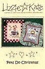 Pets Do Christmas -- counted cross stitch from Lizzie Kate