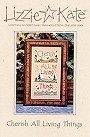 Cherish All Living Things -- counted cross stitch from Lizzie Kate