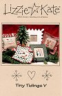Tiny Tidings V -- counted cross stitch from Lizzie Kate