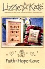 Faith * Hope * Love -- counted cross stitch from Lizzie Kate