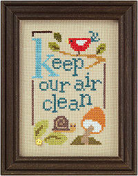 GREEN Flip-it models from Lizzie Kate Counted Cross Stitch Designs