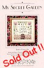 My Secret Garden Kit -- counted cross stitch from Lizzie Kate