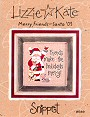 Merry Friends � Santa �03 -- counted cross stitch from Lizzie Kate